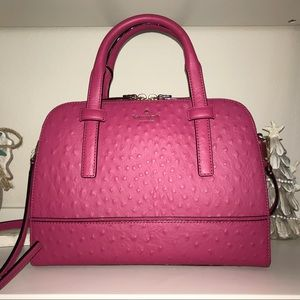 Take35-40% Off Kate Spade Pink Ostrich Small Felix